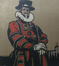William Nicholson 1898 Types de Londres London Le Gardien de la Tour Beefeater