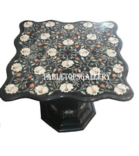 4' Black Marble Dining Table Top Without Stand Pietrdaure Hallway Deco H906A