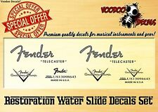 Fender Telecaster 1952 (Grey Logo) RESTORATION DECAL SET (waterslide decals)