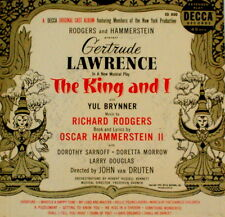 "RODGERS & HAMMERSTEIN ""THE KING AND I"" DECCA ED-800 (1953) 3-EP 45 & GATE SLV EX"