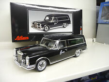 Mercedes 600 Pullmann Hearse black Schuco Exclusive 1:18 FREE SHIPPING