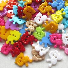 New 100pcs Mix Snail Plastic Buttons 15mm Sewing Craft 2 Holes Lots