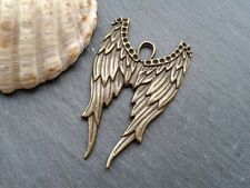 Antique Bronze Angel Wings Charms 6pcs Steampunk Vintage Gold Pendants Kitsch