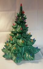 Vintage Ceramic Christmas Tree marked Atlantic mold  multicolored *No Base*