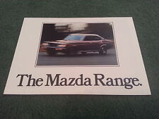 October 1977 / 1978 MAZDA UK RANGE BROCHURE - 323 616 818 929 B1800 PICKUP