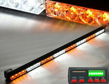 "35.5"" White/Amber Warning Traffic Advisor 16 Modes Strobe light with LED Display"