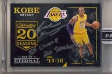 "2016 Panini Eternal Kobe Bryant Inscribed Auto #1/1 ""5X Champ 20 Seasons"" Lakers"