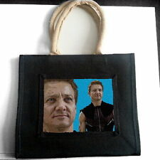 JEREMY RENNER JUTE TOTE SHOPPING BAG PHOTO FAN POP ART GIFT