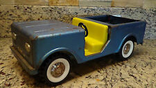 1960s Structo International Scout truck blue pressed steel    Bronco Jeep pickup