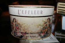 Coty L'EFFLEUR Perfumed Bath Crystals with Scoop 6 oz 170 g NEW NWOB