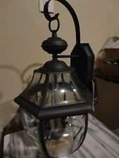 MINKA LAVERY 2005 EXTERIOR WALL MOUNTED BLACK LANTERN LIGHT