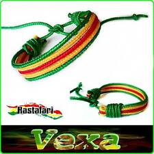 New Bracelet Rasta Reggae Wristband Bangle Bob One Love Cotton cord surfer BR02