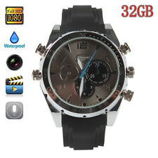 HD 1080P 32GB SPY Waterproof Watch Hidden Camera Video Camcorder IR Night Vision