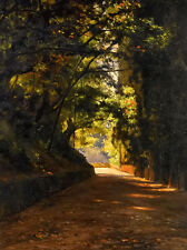 Oil painting iosif evstafevich krachkovsky - country road stunning summer scene