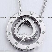 925 Sterling Silver Infinity Love Circle Necklace Pendant Christmas Gift for her