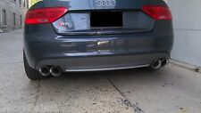 "2 STAINLESS STEEL DUAL EXHAUST TIPS 4.0 2.5 Audi S5 PAIR 2.5"" 4.0"""