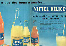 PUBLICITE ADVERTISING  1958   VITTEL DELICES  soda ( 2 pages)