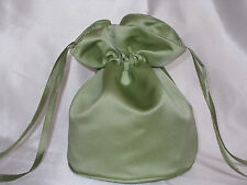 Mid green/Apple green duchess satin dolly bag for bridesmaid/ evening/ prom