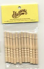 Spindles Balusters 7009 dollhouse wooden miniature 12pc 1/12 scale