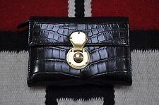 Ralph Lauren Collection Purple Label Black Alligator Cooper Wallet