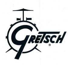 Gretsch USA Custom Drum Drop G Logo Stick on Black Decal on Transparent Film