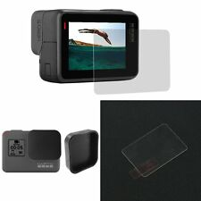 Screen Tempered Glass Film For GoPro Hero 5 Camera Protector+ Lens Cover Cap New