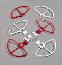 Set of 6 Red/White Snap on Prop Guards DJI Phantom 3 All Version Incl 2 Spares
