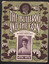 The Bullfrog and the Coon 1906 Sheet Music