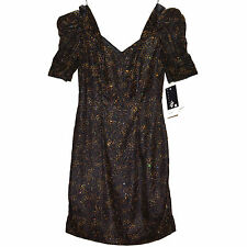 NWT Scarlett Nite Black Sparkly Floral 13/14 Junior Evening Dress VTG