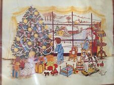 Vintage 1981 Paragon Santa's Watching Crewel Christmas Needlecraft Kit 6731 NEW