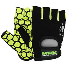 Women Fitness Gloves Ladies Weight Lifting Training Gym Crossfit Green/BLK, S