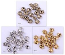 Wholesale Tibetan Silver Flying Saucer UFO Shape Spacer Beads Findings 40 Pcs