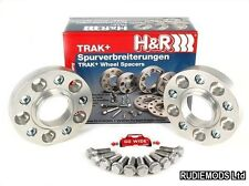 H&R 20mm Hubcentric Wheels Spacers Audi A4 S4 B6 B7 01-08 5x112 57.1