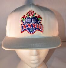 Super Bowl XXVII Patch 27 Hat Cap Snapback Bills Cowboys White AJD Football NFL