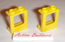 2x Lego Window Frames Yellow + Clear Panes 79104 Airplane Glass