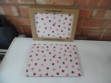 Emma Bridgewater Melamine Placemats Set of Four - Pink Hearts - Brand New Boxed