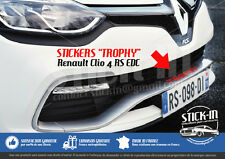 Renault Clio 4 RS EDC TROPHY 220 Stickers Autocollants Parechoc Front Bumper