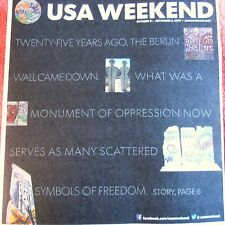 USA WEEKEND OCTOBER NOVEMBER 2014 BERLIN WALL MONUMENT OF OPPRESSION FREEDOM