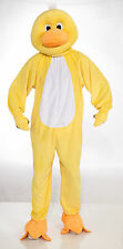 Adult Yellow Duck Mascot Costume Full Body Animal Suit Size Standard