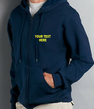 Zip Up Hoody, Personalised Custom Printed Hoodies, Work Wear, S - XXL