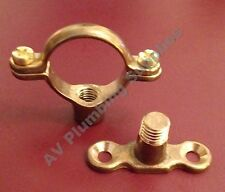 Qty 10 x 22mm Brass Single Munsen Ring & Backplate - Pipe Clips