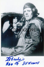 Battle of Britain RAF WWII Frederick Barker SIGNED 4x6 PHOTO