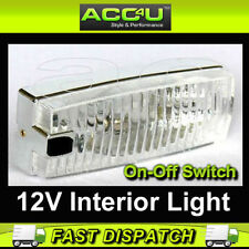 12v Car Van Taxi Caravan Boat Motorhome Interior Light Lamp With On Off Switch