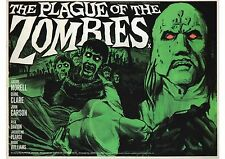 The Plague of the Zombies - Andre Morell - Hammer - A4 Laminated Mini Poster