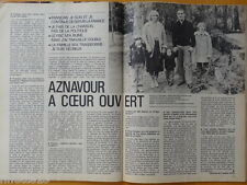 CHARLES AZNAVOUR / MIOU-MIOU Coupure presse TELE 7 JOURS 1980 French clippings
