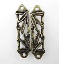 Antiqued Brass Ox Bamboo Leaf Link Connector TierraCast Bronze Finding 47mm