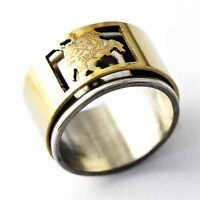 Mens/Womens Stainless Steel Gold Silver Band Big Ring size 6-11 Pattern Random