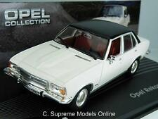 OPEL REKORD D CAR MODEL 73-77 1/43RD SCALE WHITE/BLACK COLOUR EXAMPLE T3412Z(=)