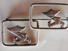 vintage Mexican Silver Taxco ANA SOSA PIN Open-work 2 Mexicanos in a hurry