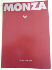 Opel Monza Colours and Upholstery brochure Nov 1981 German text